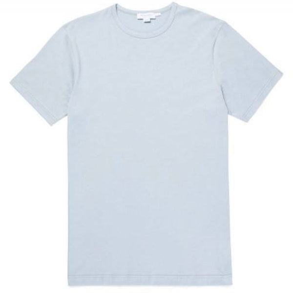 Short Sleeve Classic Crew Neck T-Shirt (Light Indigo)