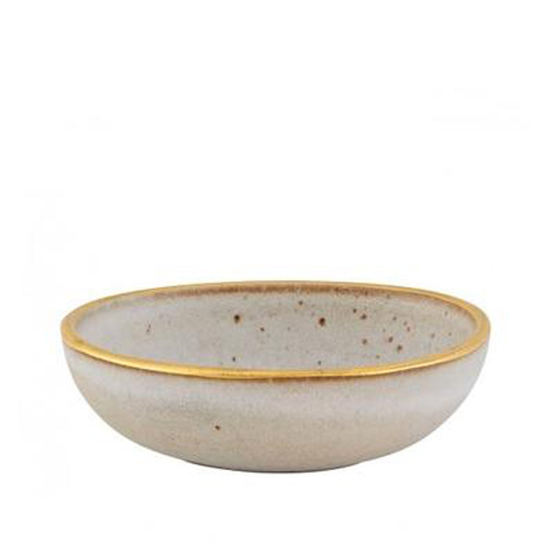Gold Stone Terra Individual White Bowl (Set of 6)