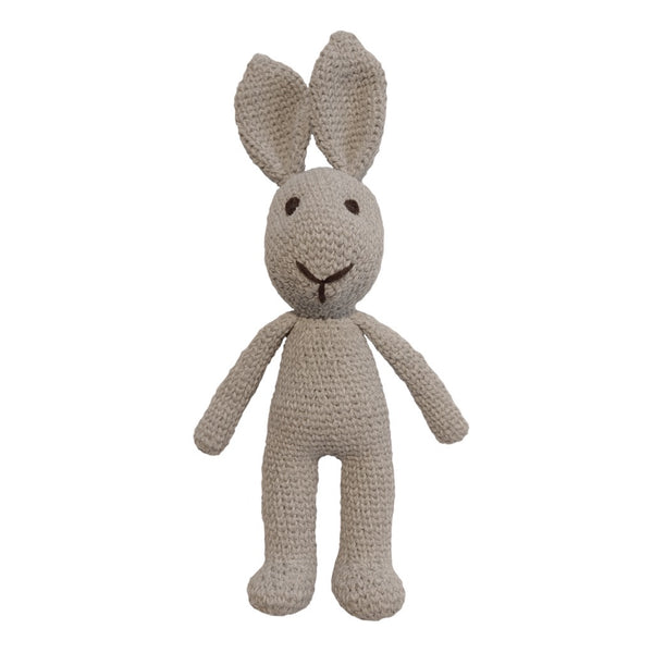 Hand crochet bunny - Light Grey