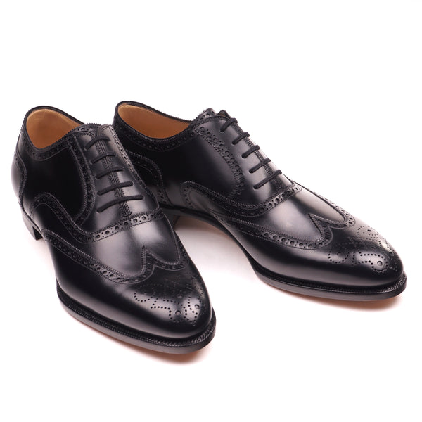 Black Calf Brogue Oxfords