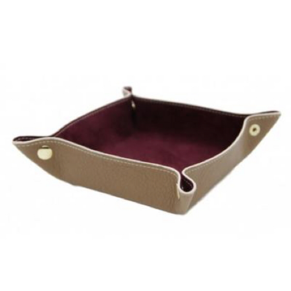 Calf Leather and Suede Valet Tray