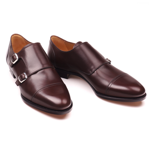 Brown Calf Double Monk Straps