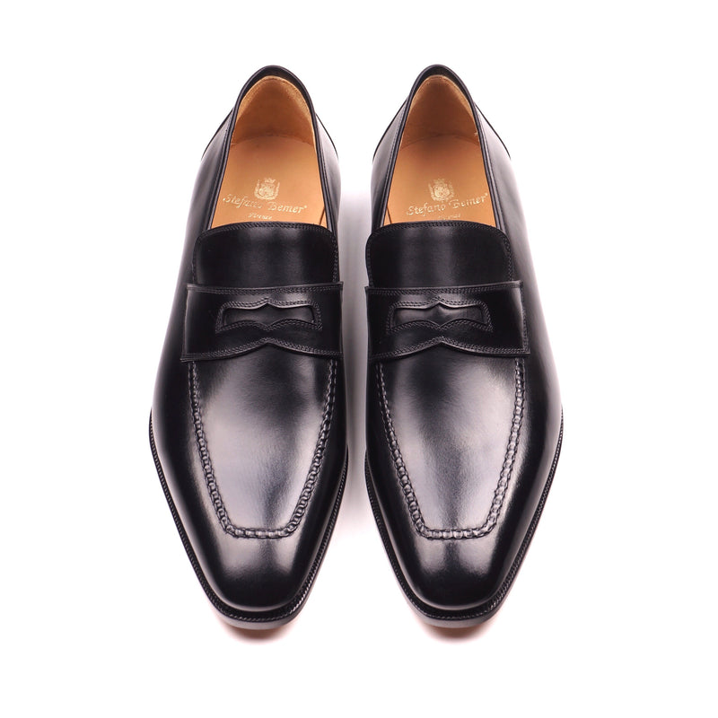 Black Calf Penny Loafers