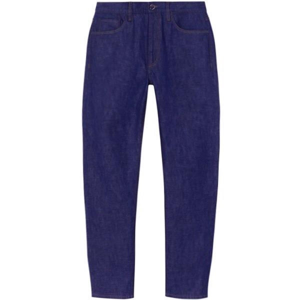 Indigo Stretch Denim Relaxed Selvedge Jeans (Made to Order)
