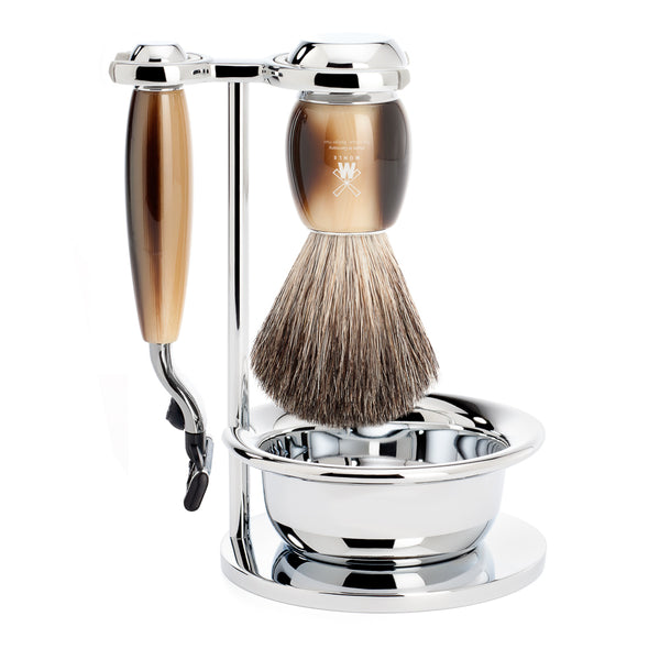 VIVO Shaving Set (Resin Horn Brown/Gillette Mach3)