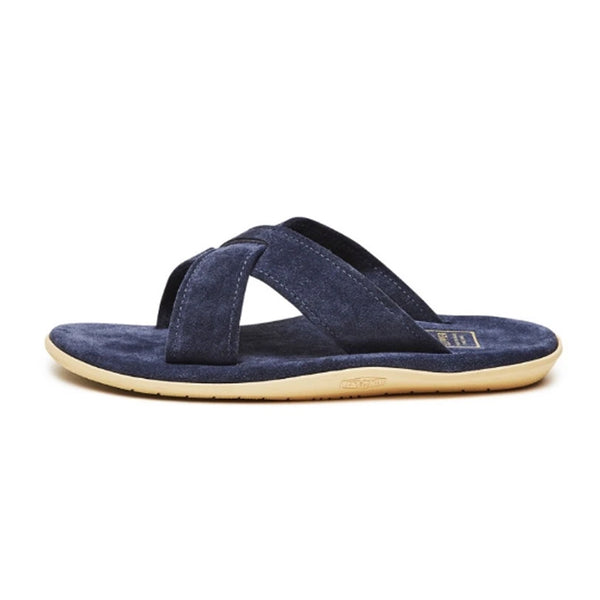 Navy Suede Criss Cross Slide