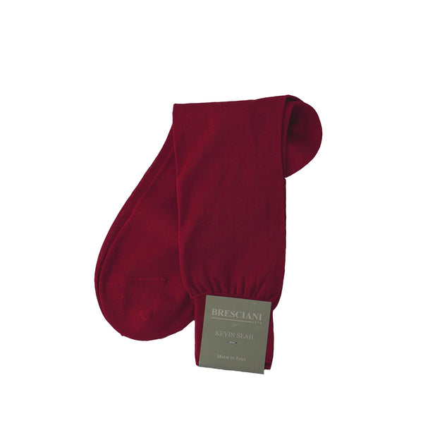 Red Mid Calf Socks