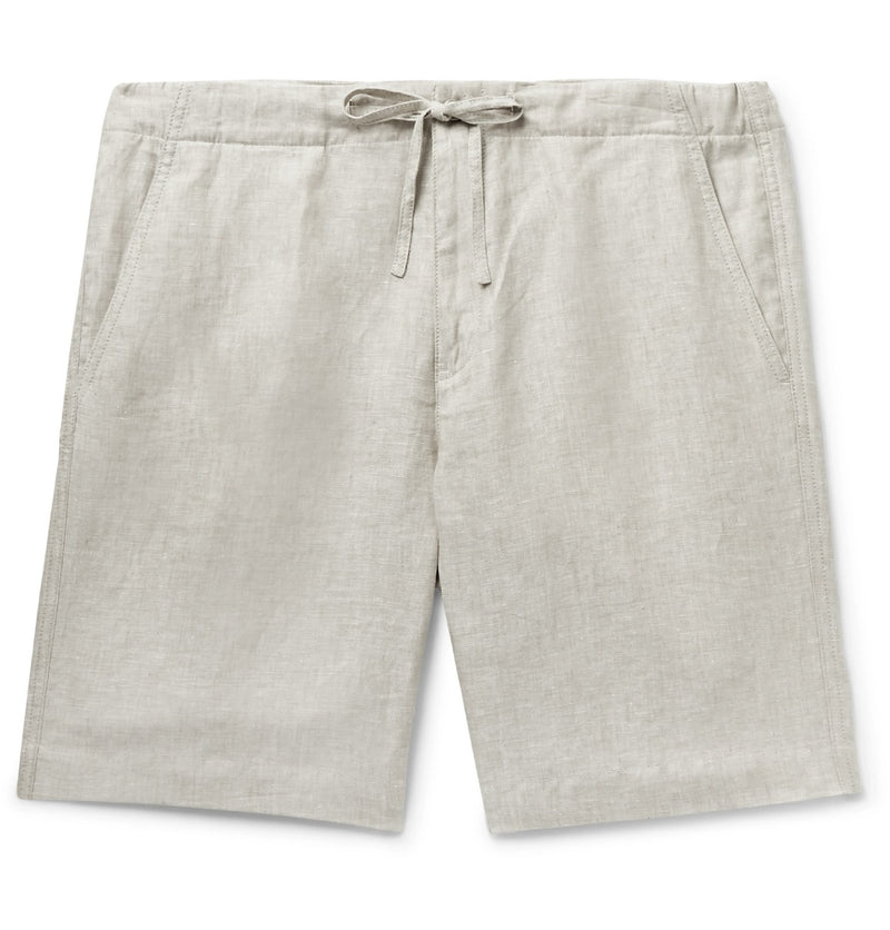 Stone Linen Drawstring Shorts (Made to Order)