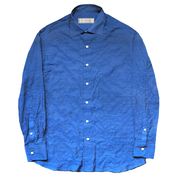 """TOSHI II"" JAPANESE SEERSUCKER Long Sleeved Shirt (MADE TO ORDER)"