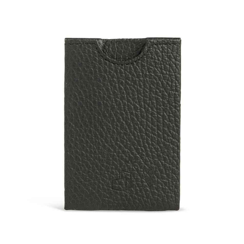 Napoli Black Grained Leather RFID Card Holder