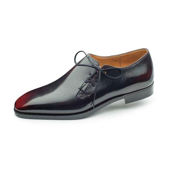 Black and Bordeaux Wholecut Oxford