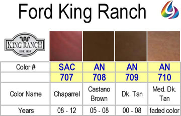 King Ranch Color Chart