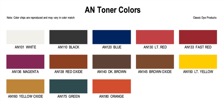 AN - Aniline Leather Dye Toner Colors