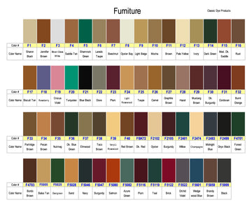 Furniture Dye Color Chart