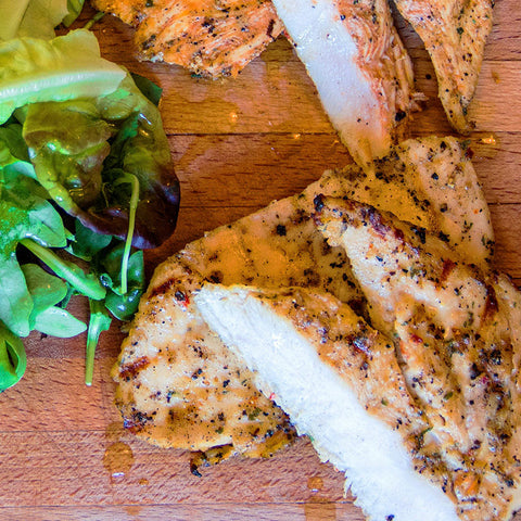 Marinated Butterfly Chicken Breasts (£4.66)