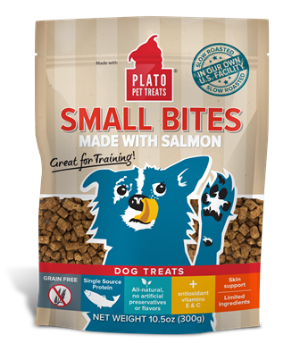 Plato Small Bites Salmon Dog Treats 4oz