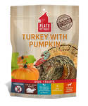 Plato Real Strips Turkey with Pumpkin Dog Treats 4oz