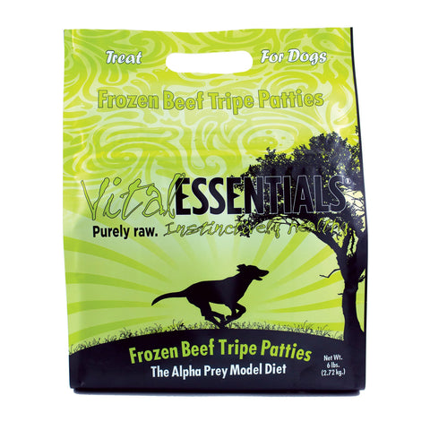VITAL ESSENTIALS DOG BEEF TRIPE PATTIES 6 LB