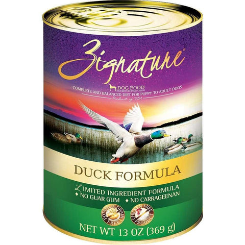 Zignature Grain-Free Duck Limited Ingredient Formula Canned Dog Food 13oz