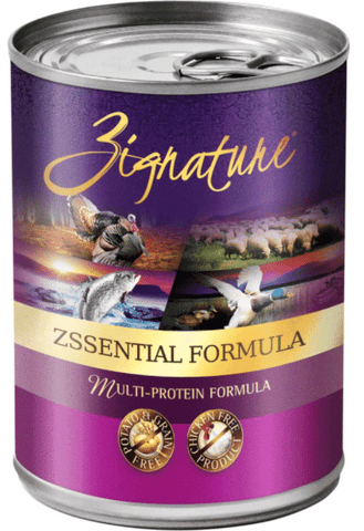 Zignature Grain-Free Zssential Multi-Protein Formula Canned Dog Food 13oz