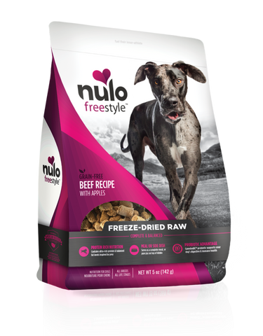 Nulo Freestyle Grain-Free Beef Recipe With Apples Freeze-Dried Raw Dog Food 13z