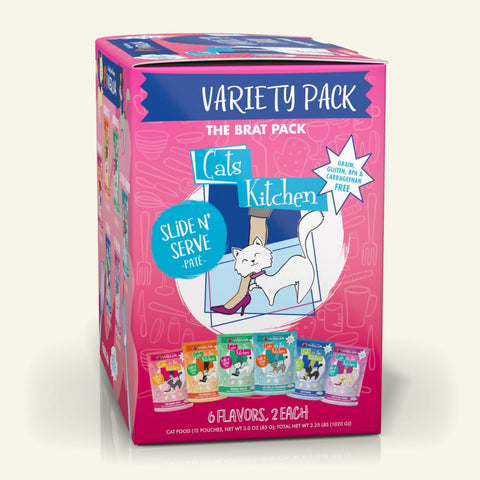 Weruva CITK The Brat Pack (Variety Pack) Cat Food Slide Pouches 3oz, Case of 12