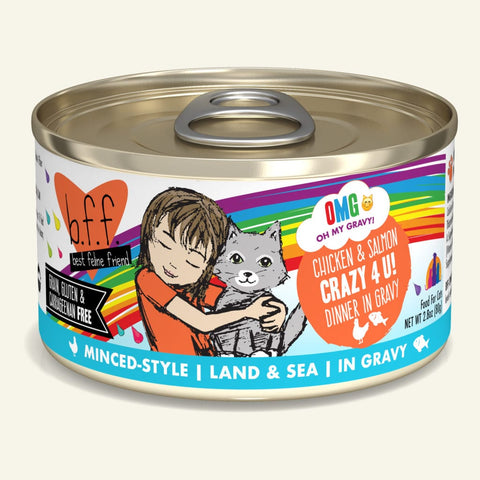 Weruva BFF OMG Chicken & Salmon Crazy 4 U! Canned Cat Food 5.5 oz