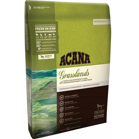 ACANA REGIONALS GRASSLANDS FORMULA CAT AND KITTEN GRAIN FREE DRY CAT FOOD 12lb