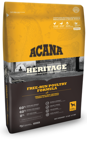 ACANA HERITAGE FREE RUN POULTRY FORMULA GRAIN FREE DRY DOG FOOD 12oz