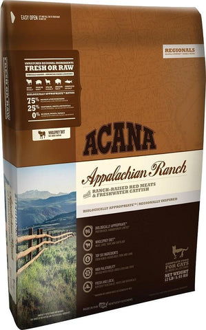 ACANA REGIONALS APPALACHIAN RANCH CAT AND KITTEN GRAIN FREE DRY CAT FOOD 12oz Sample