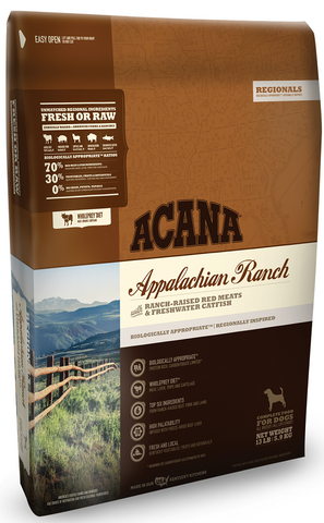ACANA REGIONALS APPALACHIAN RANCH GRAIN FREE DRY DOG FOOD 12oz Sample