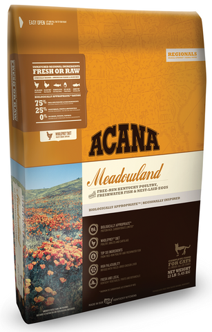 ACANA REGIONALS MEADOWLAND FORMULA CAT AND KITTEN GRAIN FREE DRY CAT FOOD 12lb