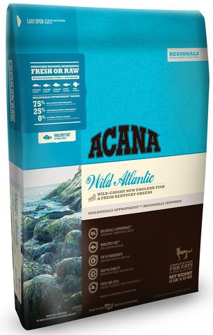 ACANA REGIONALS WILD ATLANTIC FORMULA CAT AND KITTEN GRAIN FREE DRY CAT FOOD 12lb