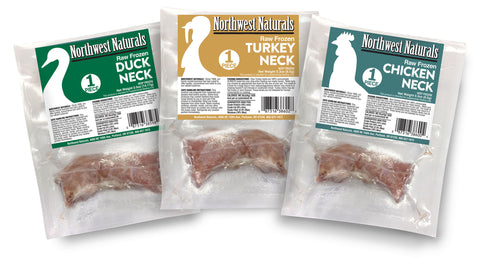 Northwest Naturals Dog Frozen Raw Duck Neck 1 Inch