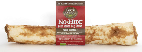 EARTH ANIMAL DOG NO-HIDE BEEF CHEW TREAT 4in