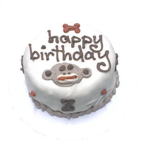 Bubba Rose Sock Monkey Happy Birthday Cake