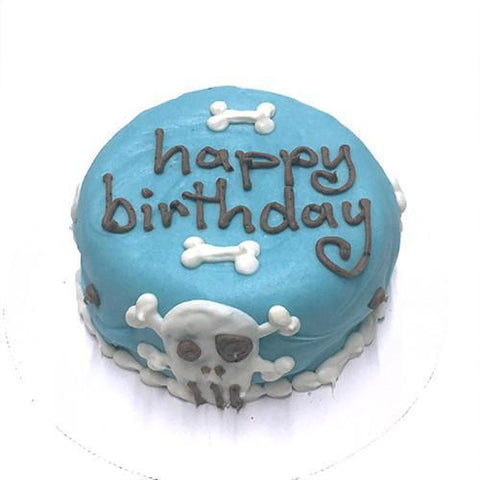 Bubba Rose Blue Skull Happy Birthday Cake