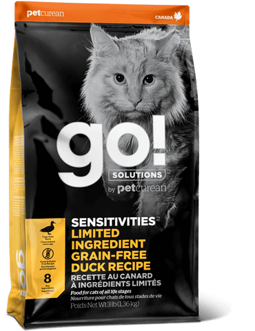 PETCUREAN CAT GO! SENSITIVITY SHINE LID DUCK 4 LB