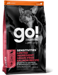 PETCUREAN DOG GO! SOLUTIONS SENSITIVITIES  LIMITED INGREDIENT GRAIN FREE SALMON RECIPE 25 LB