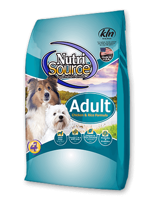 NutriSource Adult Chicken and Rice Dry Dog Food 30lbs