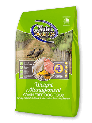 NutriSource Grain Turkey & Whitefish Free Weight Management Dry Dog Food 15lb