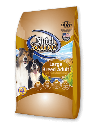 NutriSource Large Breed Adult Lamb and Rice Dry Dog Food 30lb