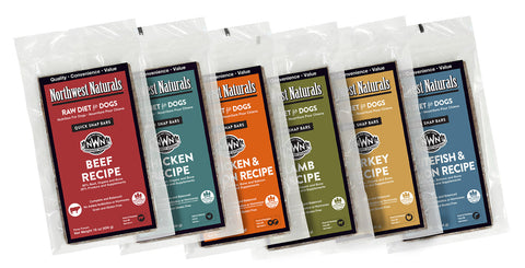 Northwest Naturals Raw Diet Lamb Dinner Bar Raw Frozen Dog Food 1lb