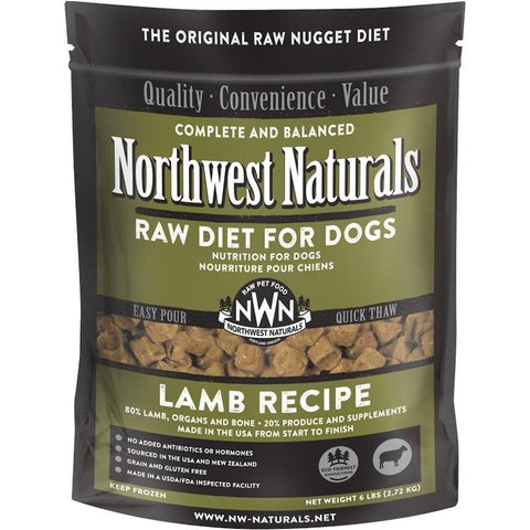 Northwest Naturals Raw Diet Lamb Nuggets Raw Frozen Dog Food 6lb (PICK UP IN STORE ONLY)