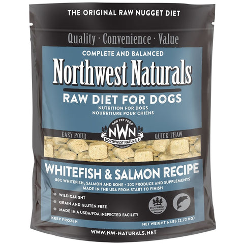 Northwest Naturals Raw Diet Whitefish & Salmon Nuggets Raw Frozen Dog Food 6lb