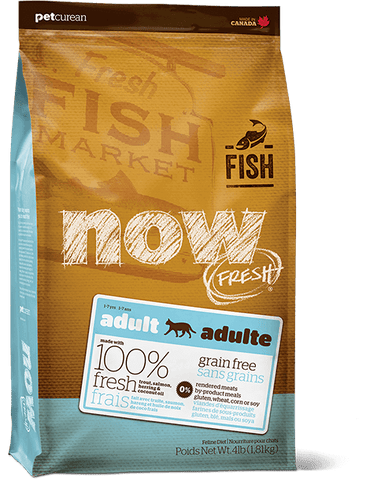 PETCUREAN CAT NOW FISH ADULT 4 LB