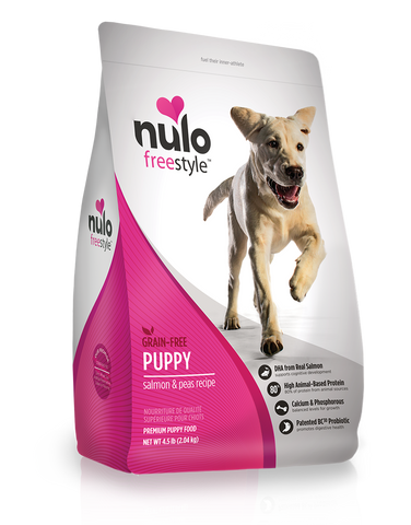 Nulo FreestyleHigh-Meat Kibble  PUPPY Salmon & Peas 24lb