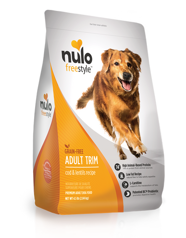 Nulo Freestyle High-Meat Kibble  ADULT TRIM Cod & Lentils 24lbs