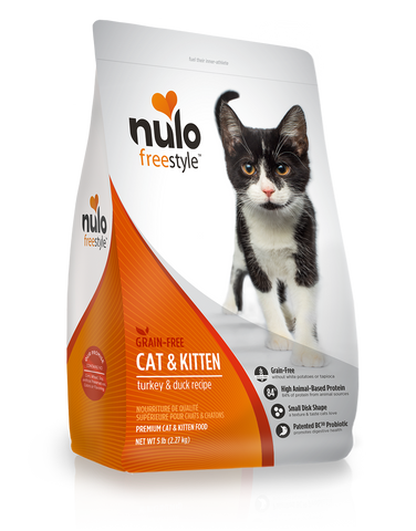Nulo Freestyle High-Meat Cat & Kitten Kibble Turkey & Duck 12lb