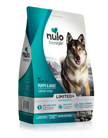 Nulo Freestyle Limited Ingredient Kibble  PUPPY & ADULT Salmon Recipe 22lb